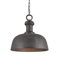 Currey & Company Timpano 1 Light Pendant in Antique Charcoal 9403