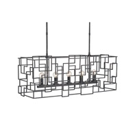 Currey & Company Fitzgerald 5 Light Chandelier in Noir 9404