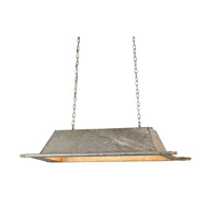 Currey & Company Trough 3 Light Pendant in Aged Unique 9407