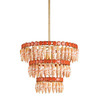 Currey & Company Le Mer 1 Light Chandelier in Contemporary Gold Leaf and Natural 9408
