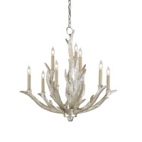 Currey & Company Haywood 9 Light Chandelier in Silver Granello 9410