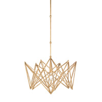 Currey & Company Forum 1 Light Chandelier in Annatto Gold 9414