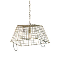Currey & Company Market 1 Light Pendant in Aged Unique 9417