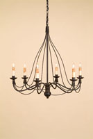 Currey & Company Trademark 6 Light Chandelier in Blacksmith 9421