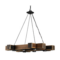 Dockyard 6 Light 30 inch Natural and Black Smith Chandelier Ceiling Light
