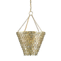 Currey & Company George V 3 Light Pendant in Contemporary Gold Leaf 9435
