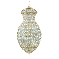 Currey & Company Pastiche Grande 3 Light Chandelier in Dutch Gold 9437