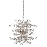Tiara 6 Light 25 inch Silver Granello Chandelier Ceiling Light