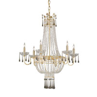Currey & Company Adelisa 6 Light Chandelier in Dutch Gold 9448