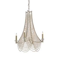 Currey & Company Felicity 4 Light Chandelier in Silver Leaf 9449