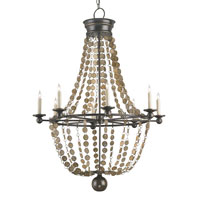 Currey & Company Creswell 8 Light Chandelier in Bronze Gold/Bronze Gold Speckled 9452