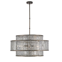 Currey & Company 9454 Fantine 8 Light 30 inch Pyrite Bronze and Raj Mirror Chandelier Ceiling Light photo thumbnail