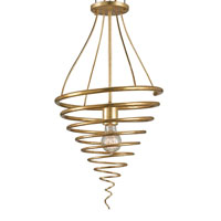Currey & Company Izzy 1 Light Pendant in Antique Gold Leaf 9458