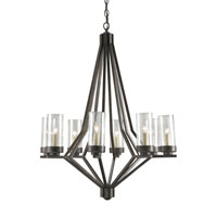 Currey & Company Longcross 8 Light Chandelier in Bronze Gold 9460