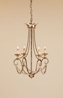 Currey & Company Anise 4 Light Chandelier in Barcelona Gold Leaf/Silver Leaf 9461