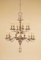 Cazenove  5 Light 34 inch Old World Silver Leaf/Gold Leaf Chandelier Ceiling Light