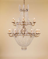 Currey & Company Granada 18 Light Chandelier in Rhine Gold 9463