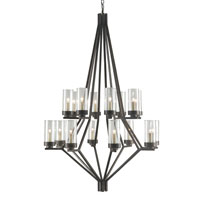 Currey & Company Longcross 16 Light Chandelier in Bronze Gold 9464