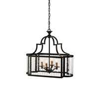 Currey & Company 9467 Godfrey 4 Light 14 inch Old Iron Lantern Ceiling Light
