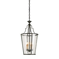 Currey & Company 9468 Fergus 4 Light 15 inch Old Iron Lantern Ceiling Light