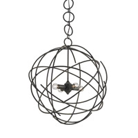 Currey & Company Belfry 4 Light Chandelier in Black Iron 9471
