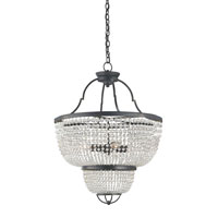 Currey & Company Magdalena 4 Light Chandelier in French Black 9472