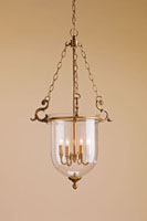 Currey & Company Athena 4 Light Lantern in Antique Brass/Seeded Glass 9473