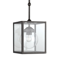 Currey & Company Mulgrave 1 Light Pendant in Hiroshi Gray 9474