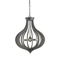 Currey & Company Exton 8 Light Chandelier in Black Iron 9479