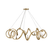 Currey & Company Ringmaster 10 Light Chandelier in Contemporary Gold Leaf 9490