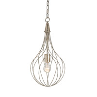 Currey & Company Whisk 1 Light Pendant in Silver Granello 9491