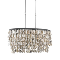 Currey & Company Stillwater 5 Light Chandelier in Blacksmith/Natural 9492
