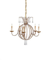 Currey & Company Crystal Silhouette Round Chandeliers 9493