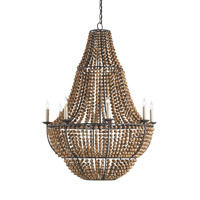 Currey & Company Falconwood 8 Light Chandelier in Old Bronze 9502