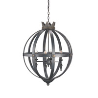 Currey & Company Signature 4 Light Chandelier in French Black 9505