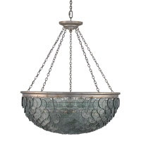 Currey & Company Quorum 20 Light Chandelier in Silver Leaf 9511