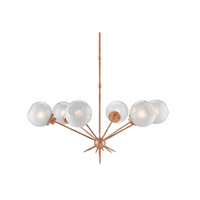 Shelly 6 Light 39 inch Washed Gold Leaf Chandelier Ceiling Light