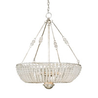 Currey & Company Cleo 8 Light Chandelier in Silver Granello 9525