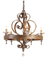 Currey & Company Salzburg 5 Light Chandelier in Rhine Gold 9526