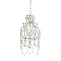 Currey & Company Jasmine 1 Light Chandelier in Jaipur Clear 9527