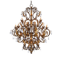 Currey & Company 9530 Innsbruck 39 Light 55 inch Venetian/Gold Leaf/Swarovski Crystal Chandelier Ceiling Light