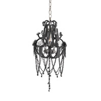 Currey & Company Sindu 1 Light Chandelier in Jaipur Black 9534