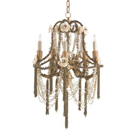 Currey & Company Padma 5 Light Chandelier in Jaipur Gold 9535