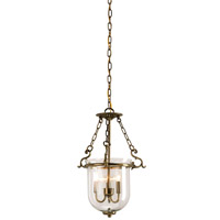 Currey & Company Petit Athena 3 Light Lantern in Antique Brass 9538