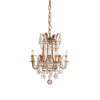 Currey & Company Laureate 4 Light Mini Chandelier in Rhine Gold 9543