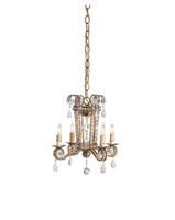 Currey & Company Serendipity 4 Light Mini Chandelier in Rhine Gold 9544