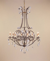 Currey & Company Mayfair 8 Light Chandelier in Aged Brass/Silver Leaf 9550