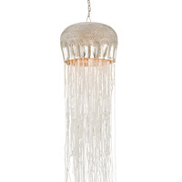 Currey & Company Medusa 1 Light Pendant in Nickel and Clear 9551