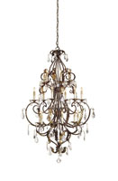 Currey & Company Heirloom 18 Light Chandelier in Venetian/Gold Leaf/Swarovski Crystal 9569