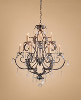 Currey & Company Heirloom 12 Light Chandelier in Venetian/Gold Leaf 9571